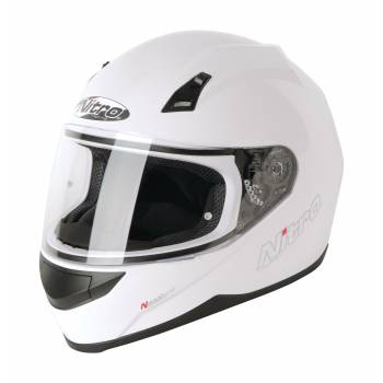 N2000 White FULL FACE HELMET XL